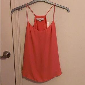 LOFT pink sleeveless blouse